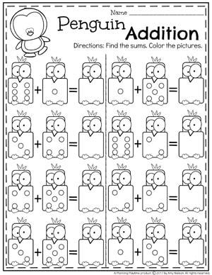 Addition Worksheets Planning Playtime