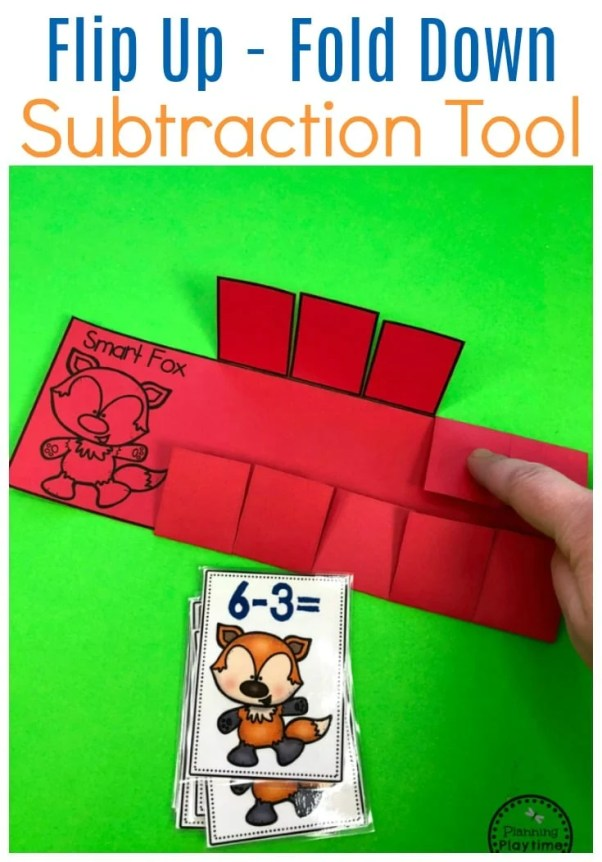 Fun Subtraction Game - Flip it Up and Take them Down