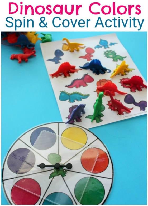 Preschool Colors Activity for a Dinosaur Theme. S #preschool #dinosaurtheme #dinosaur #preschoolactivitieso fun!