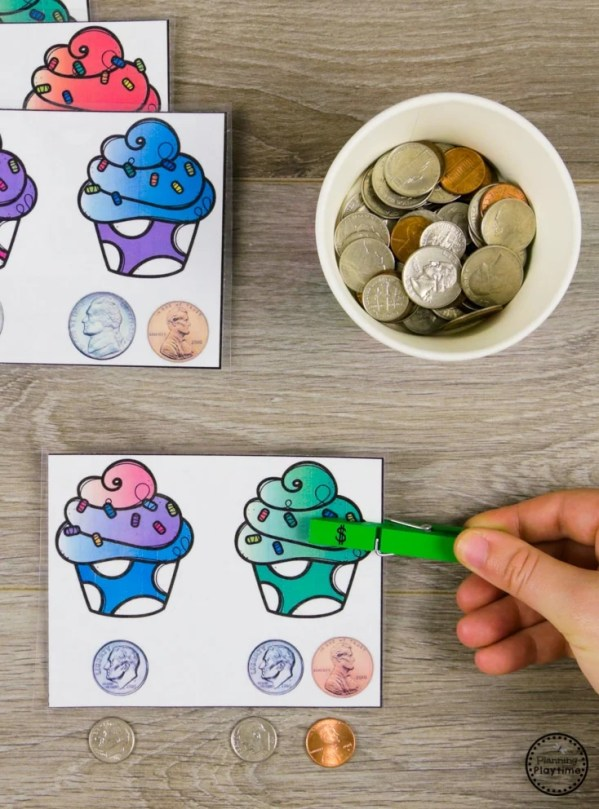 Which is more Money Activities for Kids. #kindergartenmath #kindergarten #kindergartencenters
