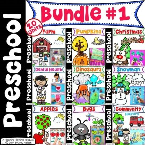 Preschool Units Bundle - Preschool Curriculum Themed Units