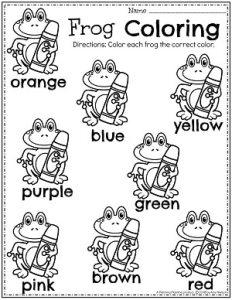 Cute Preschool Color Worksheets Monster Theme. #preschoolworksheets #colorworksheets #Planningplaytime