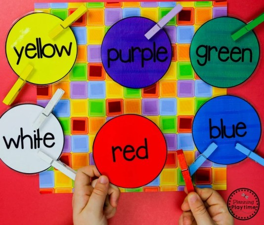 Match and Clip Color Sorting Activity #preschool #colorrecognition #planningplaytime