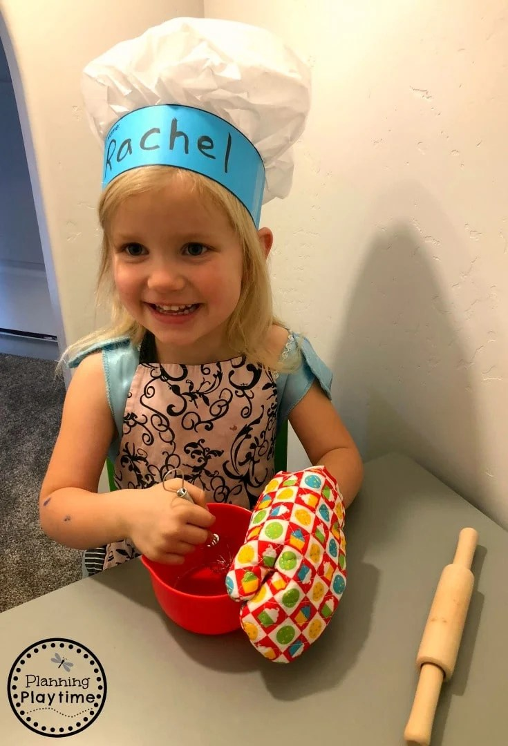 DIY Chef Hat for Kids - Preschool Name Craft