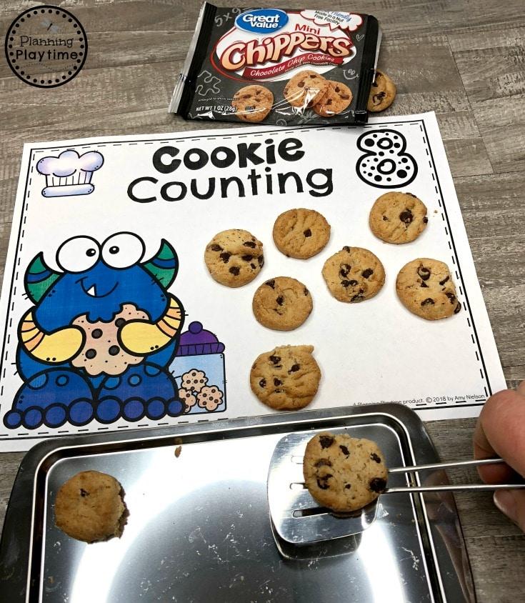 Preschool Counting Mats - Preschook Baking Theme