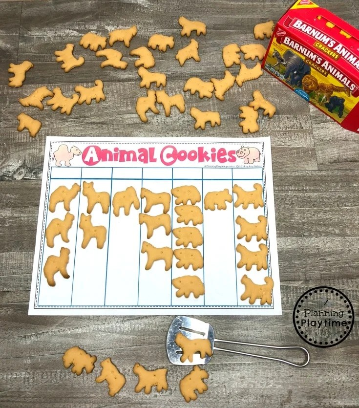 Preschool Math - Graphing Animal Cookies