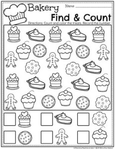 Preschool Math Worksheets - Find and Count