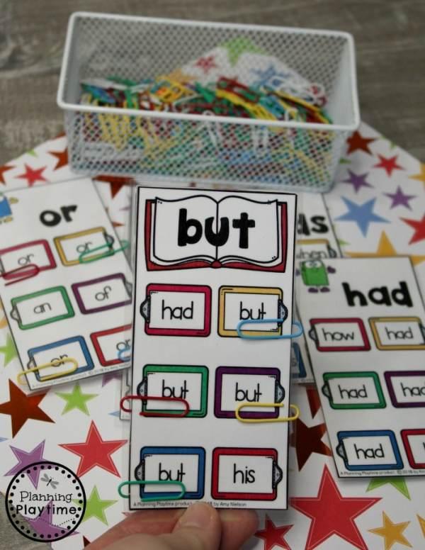 Sight Words Games and Worksheets - Kindergarten Sight Words