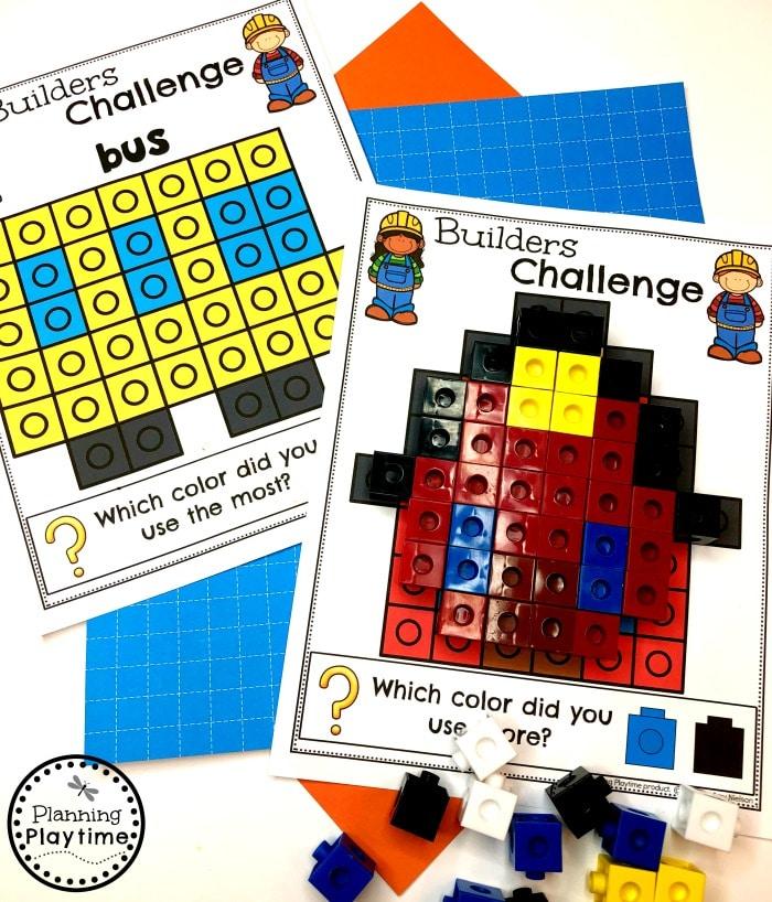 Preschool Construction Theme - Building Pictures #constructiontheme #preschool #preschoolworksheets #planningplaytime
