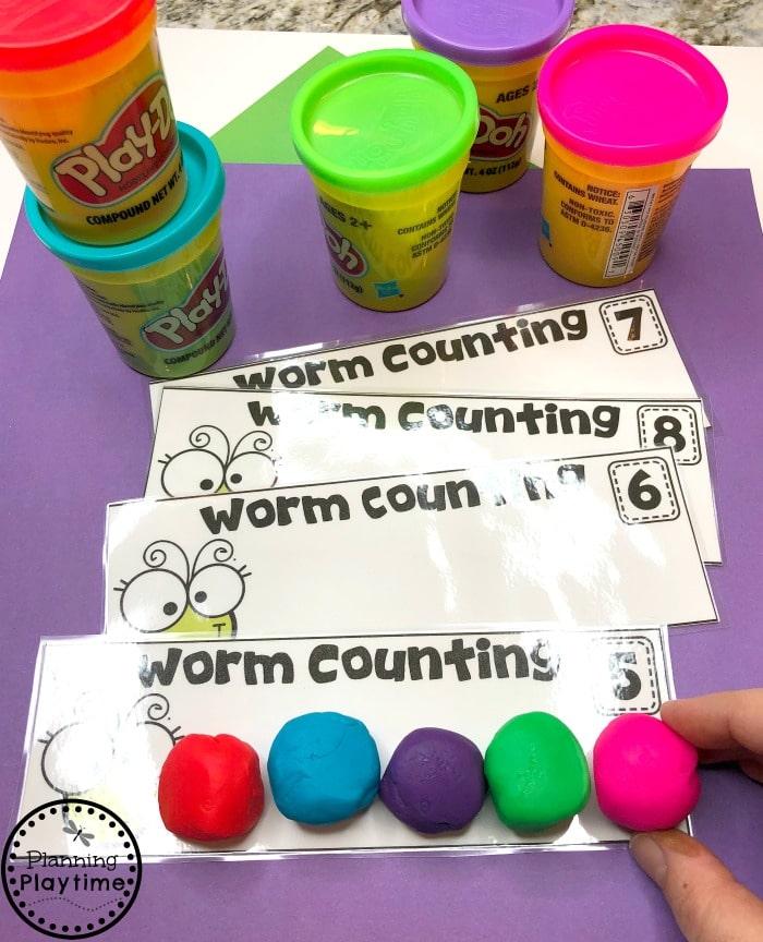 Preschool Counting Activities - Spring Preschool Centers