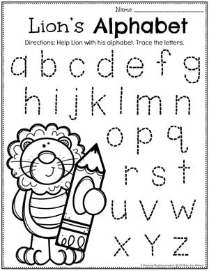 Preschool Letter Worksheets - Zoo Theme Letter Tracing #zootheme #preschool #preschoolworksheets #planningplaytime