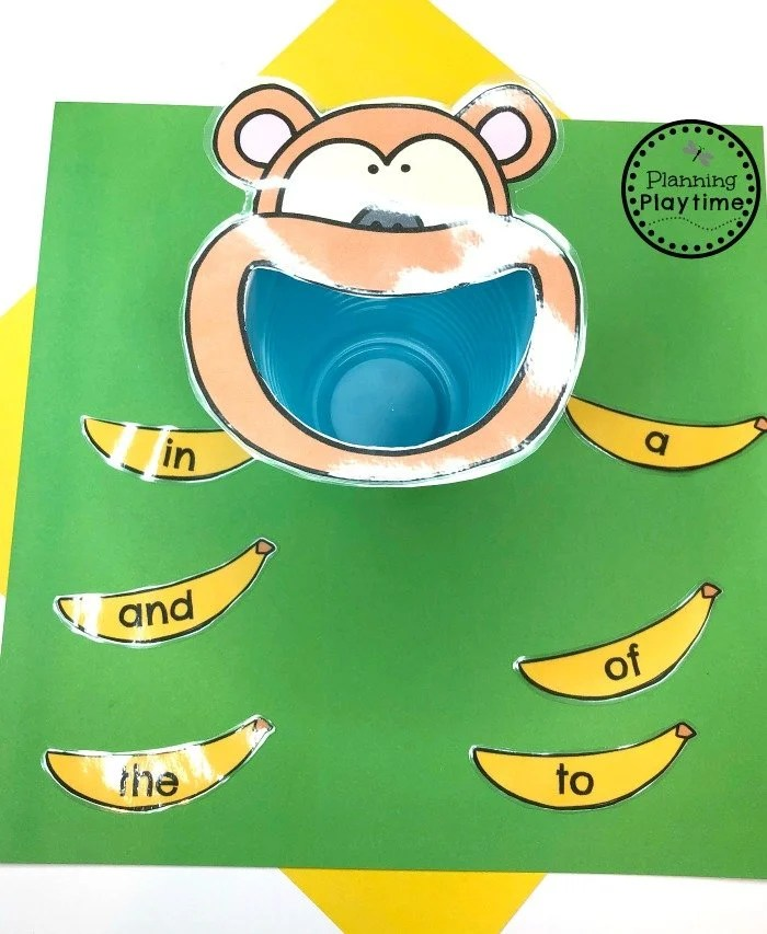 Preschool Zoo Theme Sight Words Game #zootheme #preschool #preschoolworksheets #planningplaytime