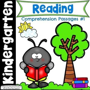 Reading Comprehension Passages for Kindergarten Set 1