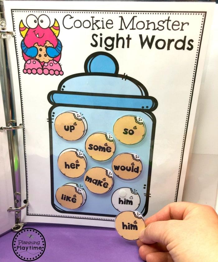 Sight Words Activities Binder for Kids #sightwords #kindergartenworksheets #sightwordsworksheets #planningplaytime