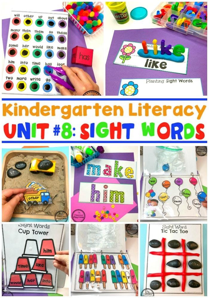 Sight Words Games and Activities for Kids #sightwords #kindergartenworksheets #sightwordsworksheets #planningplaytime