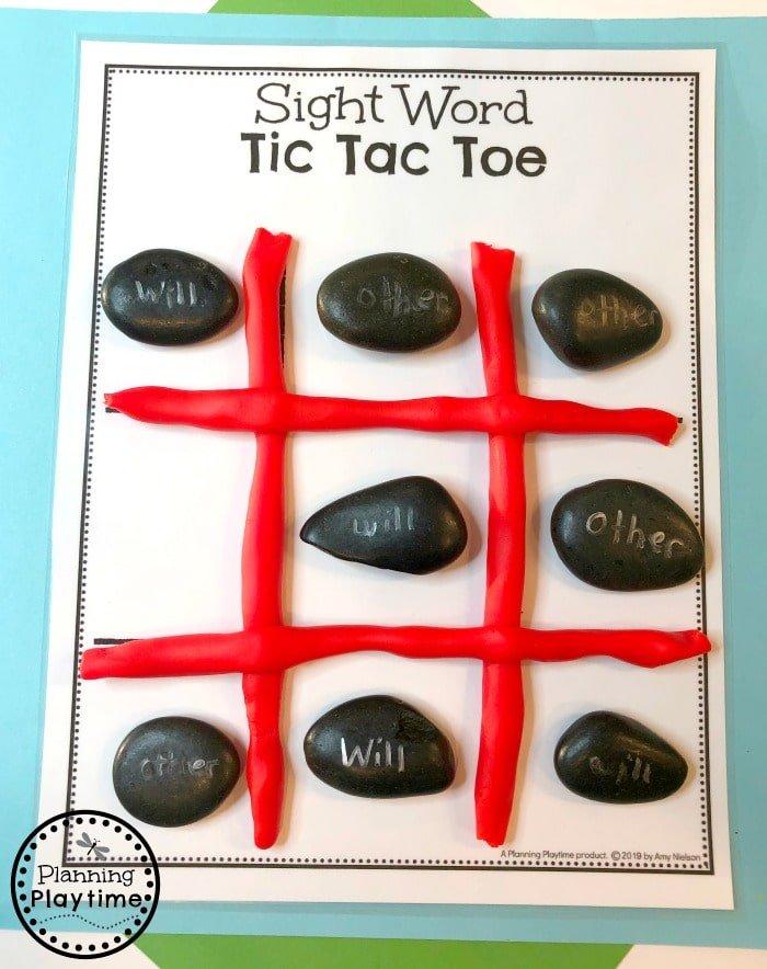 Sight Words Games for Kids - Tic Tac Toe #sightwords #kindergartenworksheets #sightwordsworksheets #planningplaytime