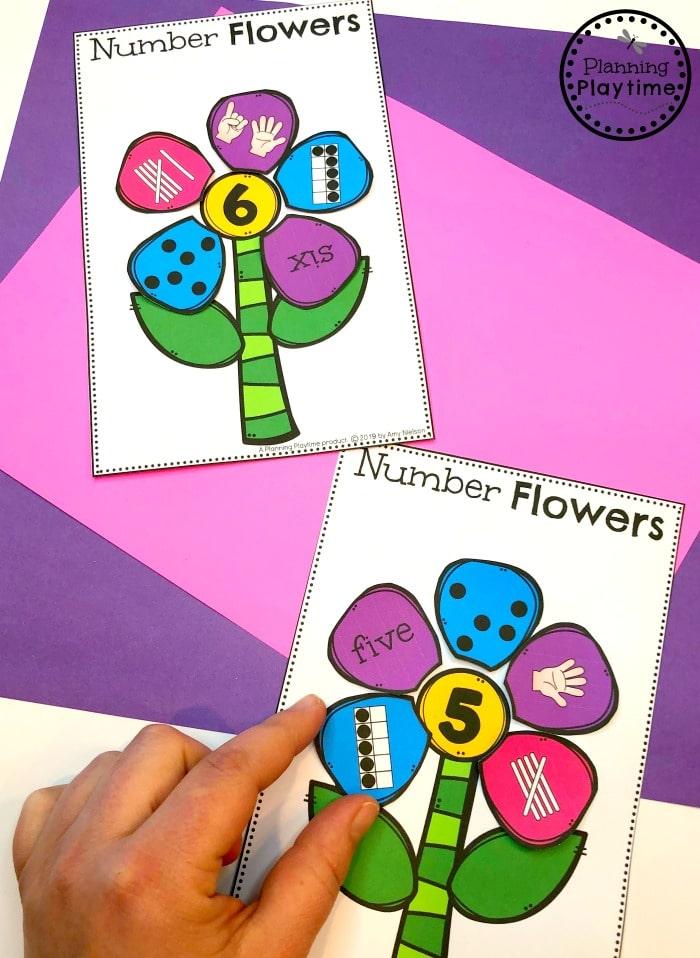 Spring Math Centers for Preschool