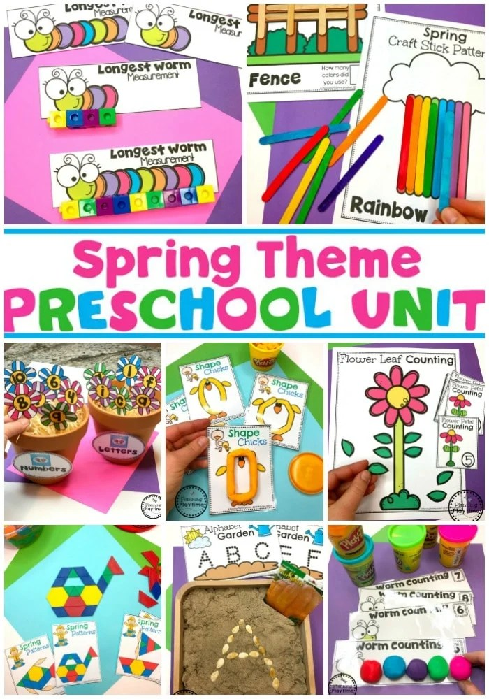 Spring Preschool Activities and Games for Kids