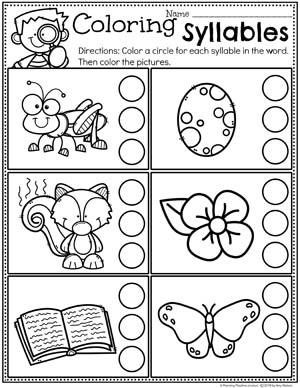 Syllables Worksheets Planning Playtime