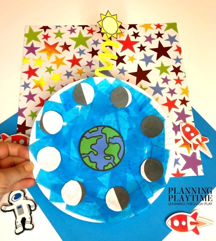 Phases of the Moon Craft for Preschool - Paper Plate Crafts