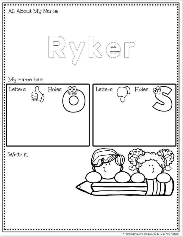 Preschool Name Worksheets - Fast and Easy Editable Name Tracing Worksheets Set #preschoolworksheets #nameworksheets #preschoolprintables #nametracing #backtoschool #planningplaytime