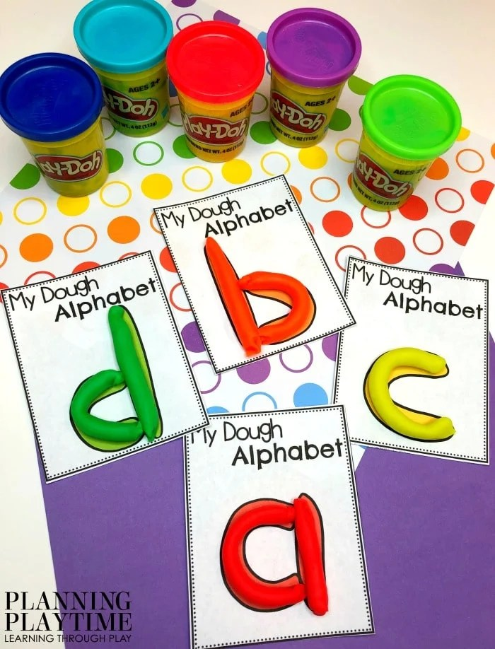 Letter Formation Playdough Mats - letter recognition activities #lettertracing #letterworksheets #alphabetworksheets #preschoolworksheets #preschoolactivities #alphabetactivities #planningplaytime