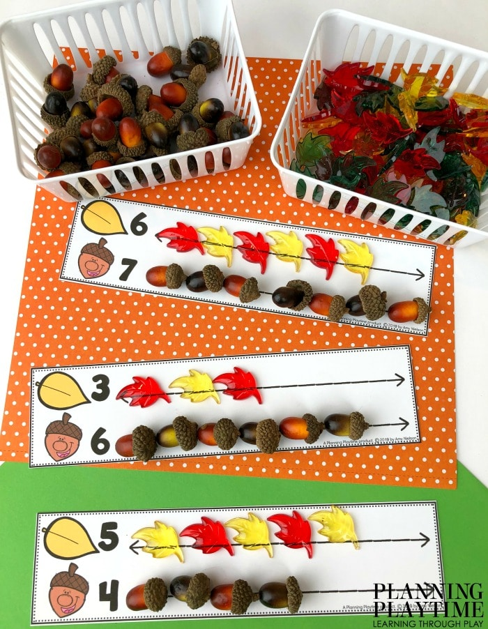 Preschool Math Mats - Count and Compare.