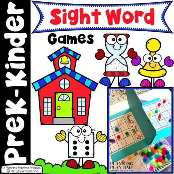 Sight Word Games for kids - Kindergarte sight words activities