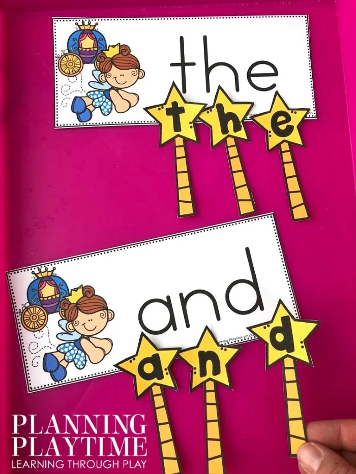 Sight Words Activity Fairy Tale Theme - Fairy Godmother