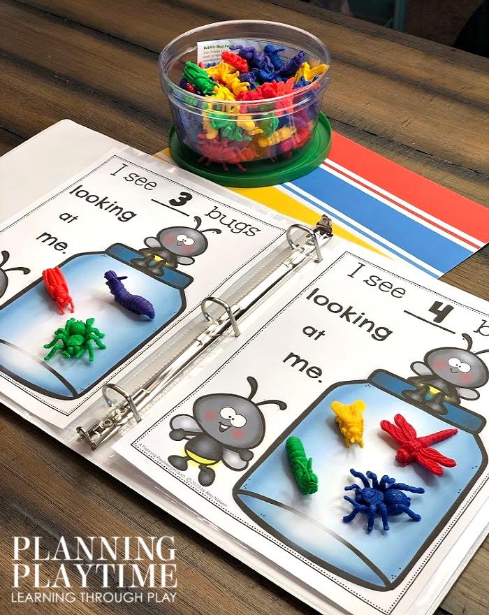 Math Activities for Preschool or Kindergarten - Interactive Counting Binder