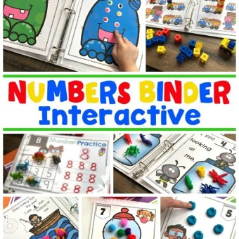Numbers - Math Activities for Preschool or Kindergarten
