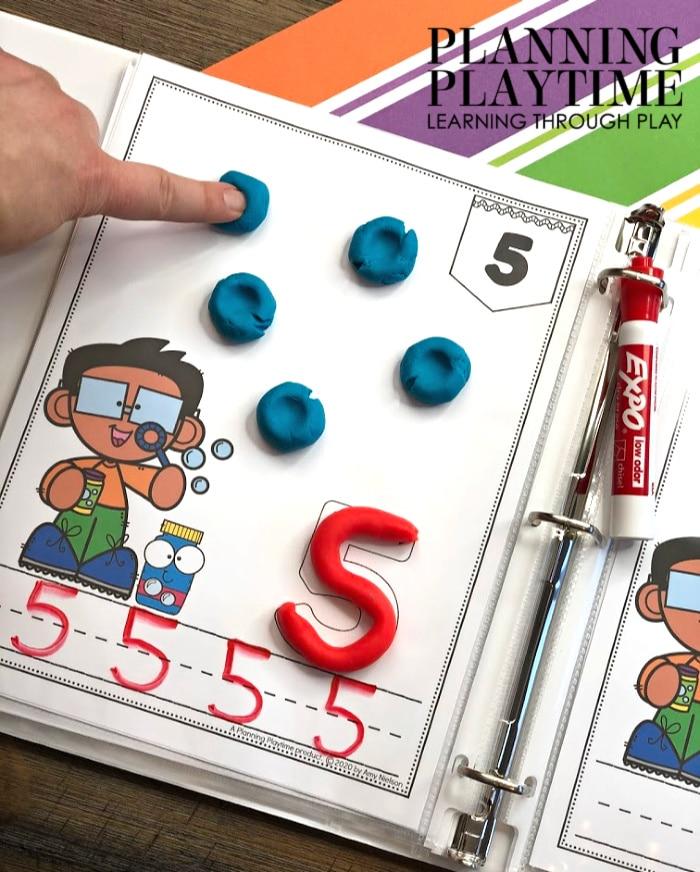 Preschool math Activities - Low Prep and Interactive