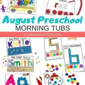 Back to School Preschool Activities - Morning Tubs