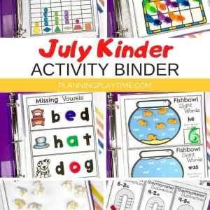 Summer Kindergarten Activities Binder