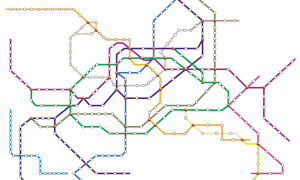 Can you name these cities just by looking at their transit maps?