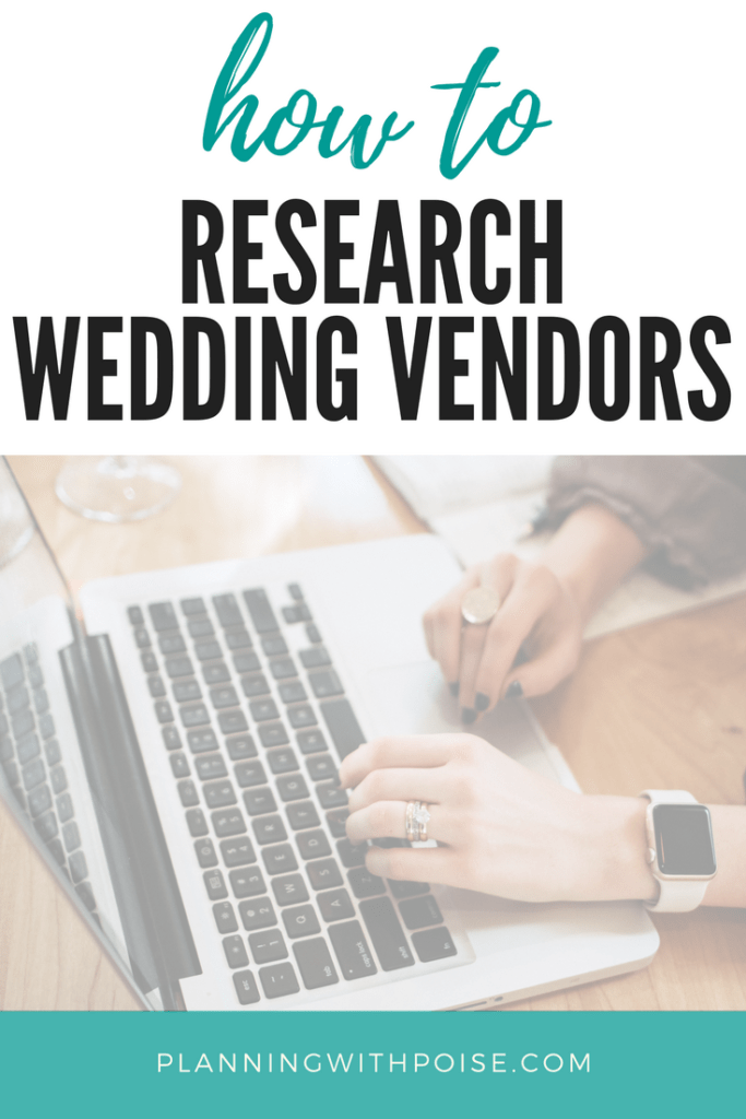 text overlay says how to research wedding vendors