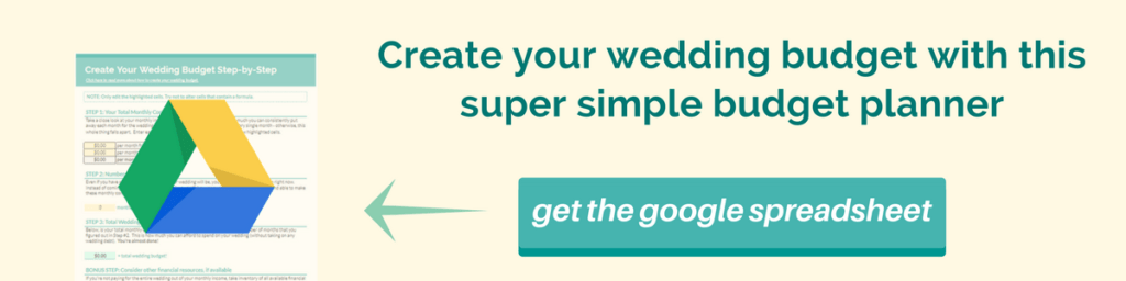 wedding budget planner - super simple strategy!