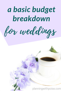 Basic Wedding Budget Breakdown