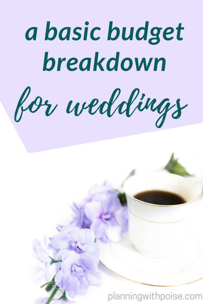 Basic wedding budget breakdown planning with poise the super basic wedding budget breakdown junglespirit Images