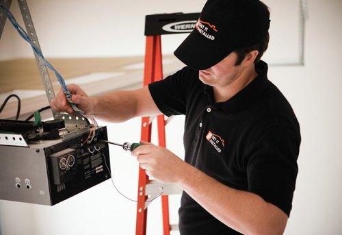 plug in the garage door opener