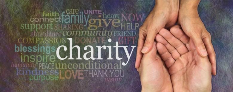 Charity give hand
