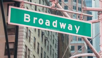 broadway new york street sign