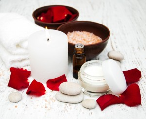 massage oil candle red valentines day