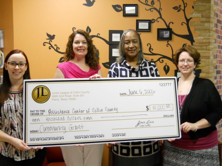 Junior League of Collin Country grantes 10000 to Assistance Center of Collin Country generously supporting community members in need