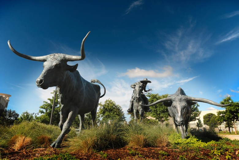 Longhorn Statues, Plano Texas