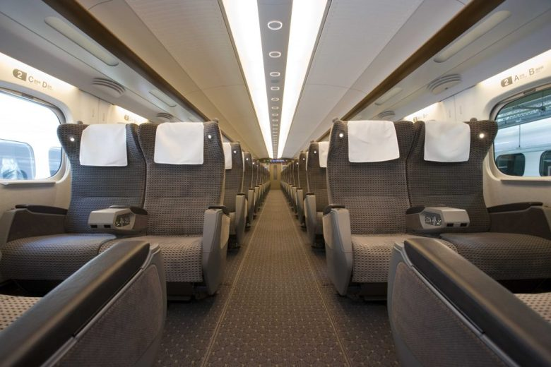 First Class Seating of an already built high-speed train courtesy of Texas Central.