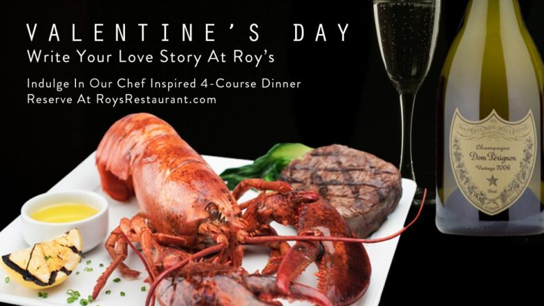 Roy's restaurant, valentine's day, plano