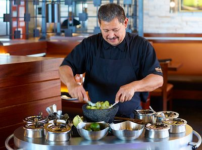 Tableside guacamole at Mi Dia from Scratch, Plano.