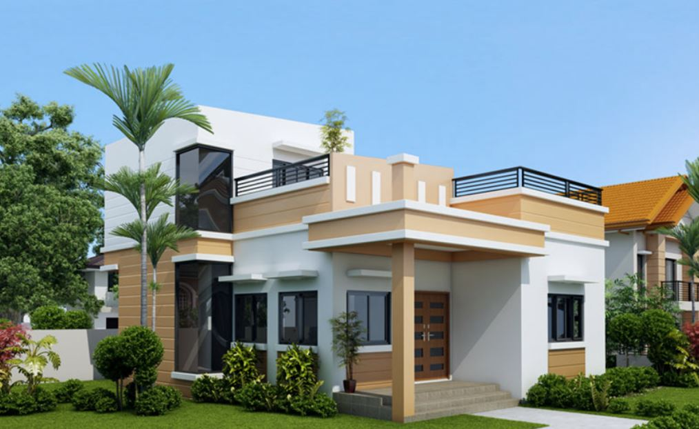 Casas De Dos Plantas Con Terraza Novocom Top