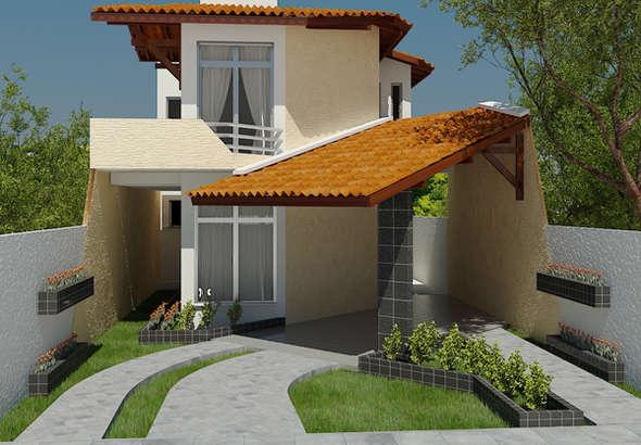 Planos de casas de dos pisos modernas.